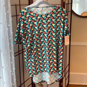 NWT LuLaRoe XXS Irma Short Sleeve Tunic